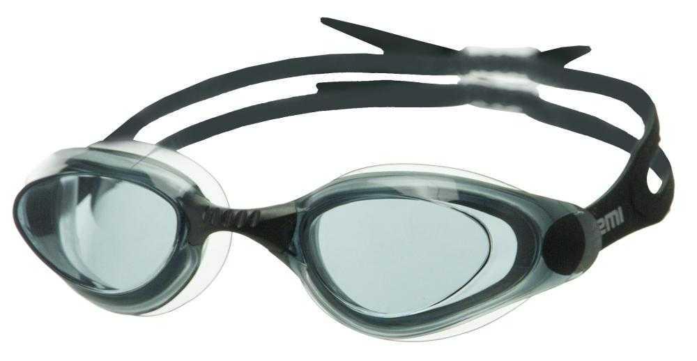 Очки для плавания Atemi, силикон (чёрн), B403