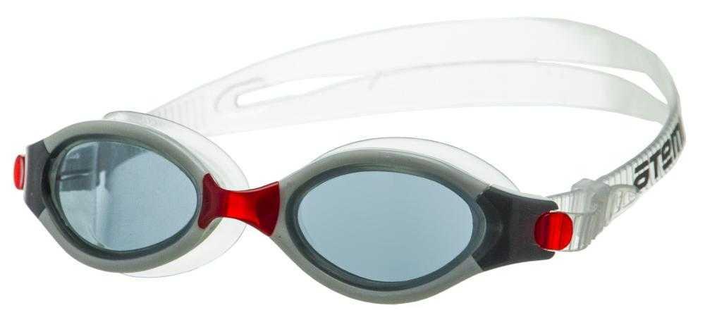 Очки для плавания Atemi, силикон (бел/красн), B501
