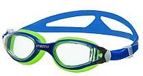 Очки для плавания Atemi, дет., силикон (син/салат), B601