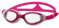 Очки для плавания Atemi, дет., силикон (роз/бел), B602