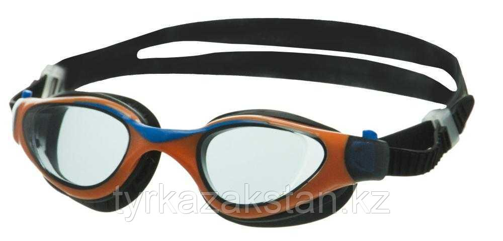 Очки для плавания Atemi, дет., силикон (чёрн/оранж), M701