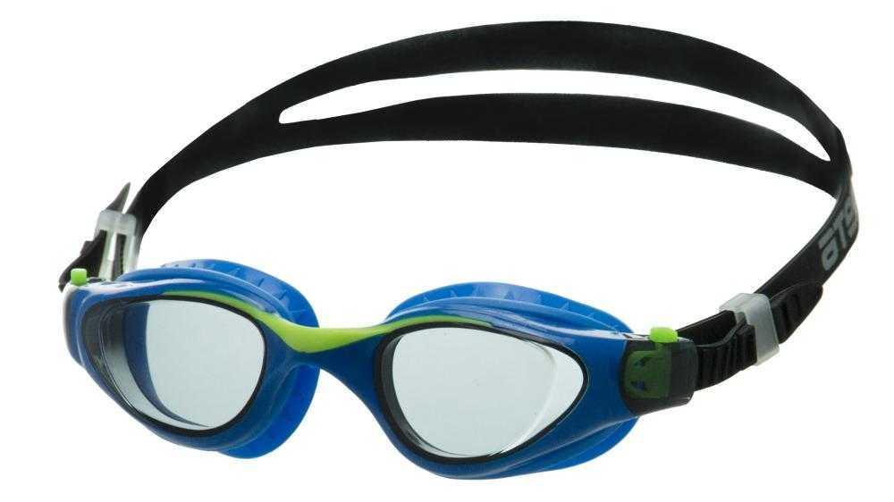 Очки для плавания Atemi, дет., силикон (чёрн/гол), M702