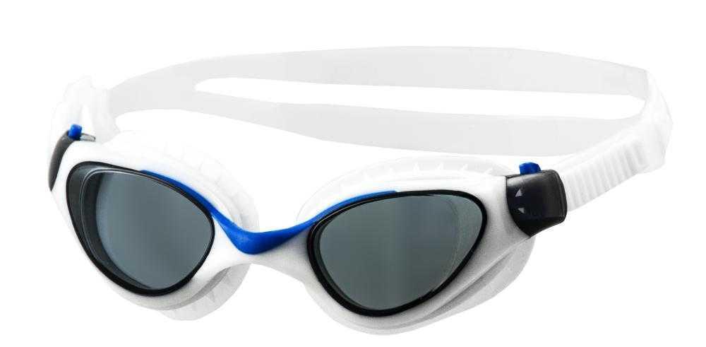 Очки для плавания Atemi, дет., силикон (бел/гол), M703