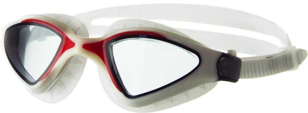 Очки для плавания Atemi, силикон (бел/красн), N8501