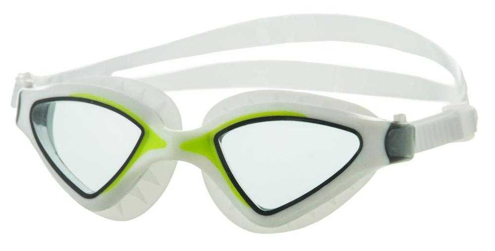 Очки для плавания Atemi, силикон (бел/салат), N8502