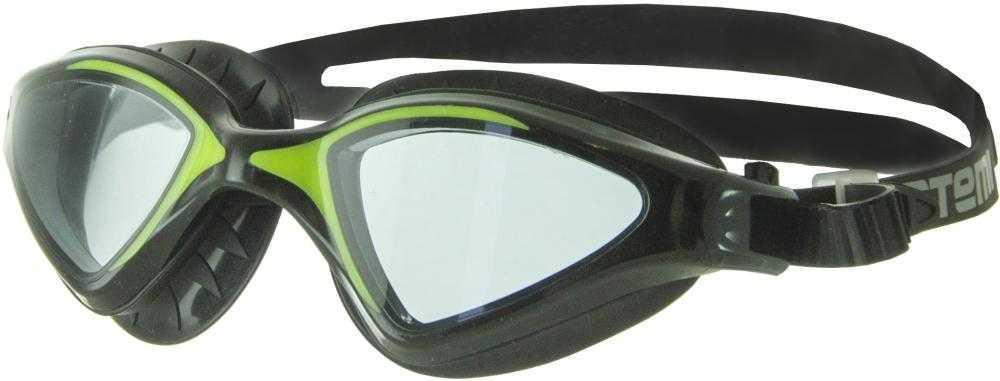 Очки для плавания Atemi, силикон (чёрн/салат), N8503
