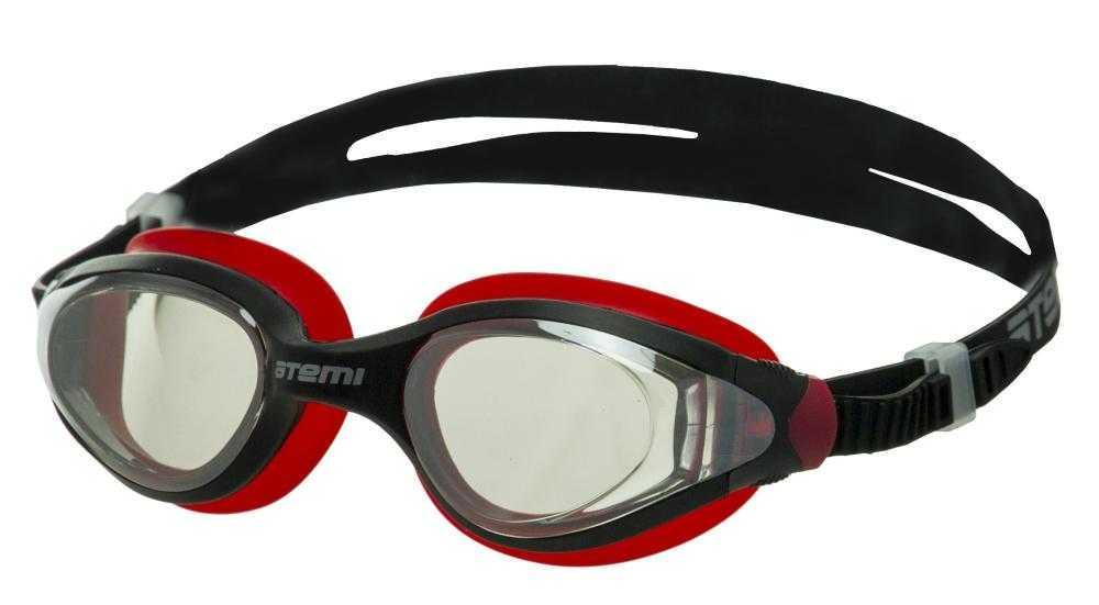 Очки для плавания Atemi, силикон (чёрн/красн), N9301M