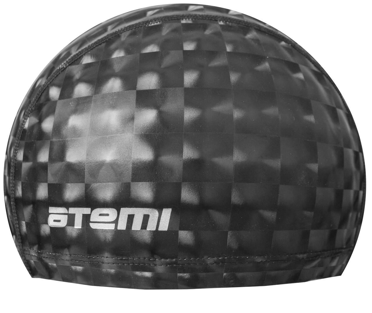 Шапочка для плавания тканевая с ПУ покрытием, чёрн 3D, PU 200