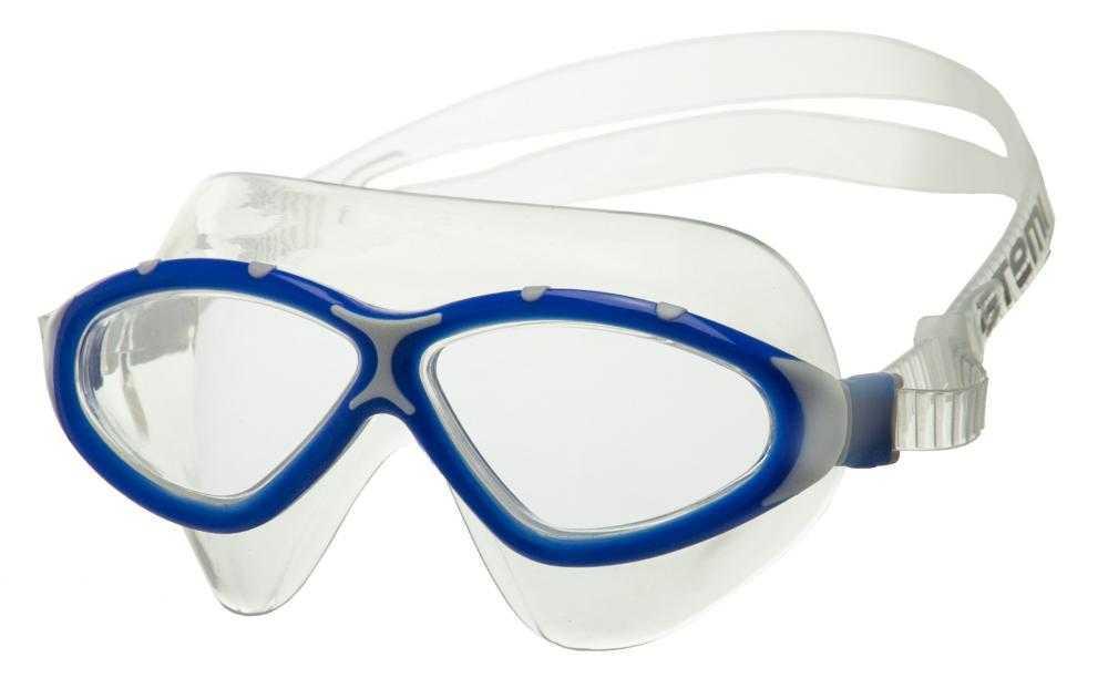 Очки-полумаска для плавания Atemi, силикон (син/сер), Z401