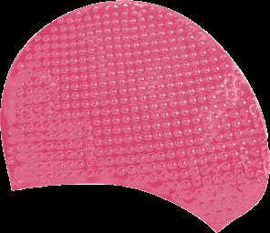 Шапочка для плавания Atemi, силикон (бабл), розовая, BS65