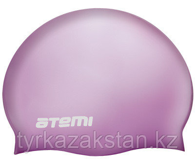 Шапочка для плавания Atemi, силикон (массаж.), сиреневая, DC504