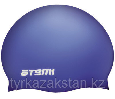 Шапочка для плавания Atemi, силикон (массаж.), ярко-синий, DC505