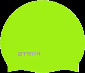 Шапочка для плавания Atemi, силикон (б/м), неоново-жёлтая, RC305