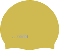 Шапочка для плавания Atemi, силикон (б/м), золото, RC306