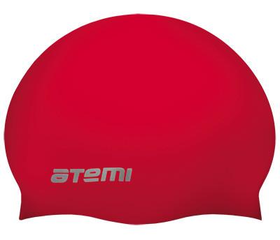 Шапочка для плавания Atemi, силикон, красная, SC309