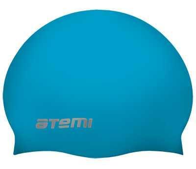 Шапочка для плавания Atemi детская, тонкий силикон, голубой, TC303