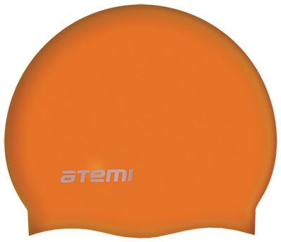 Шапочка для плавания Atemi детская, тонкий силикон, оранжевый, TC304