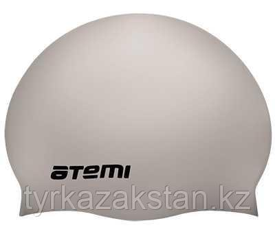 Шапочка для плавания Atemi детский, тонкий силикон, серебро, TC308