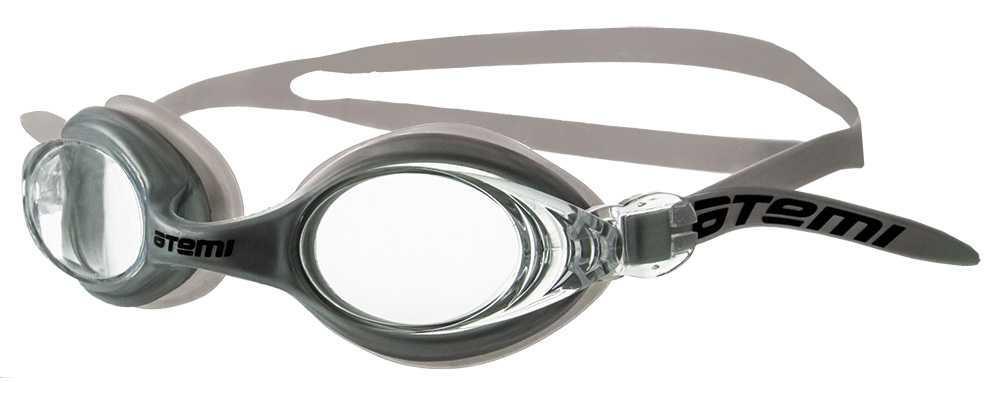 Очки для плавания Atemi, силикон (серебро), N7105