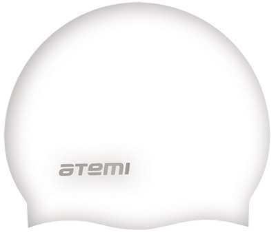 Шапочка для плавания Atemi, силикон, бел., SC108