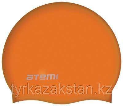 Шапочка для плавания Atemi, силикон, оранжевая, SC306