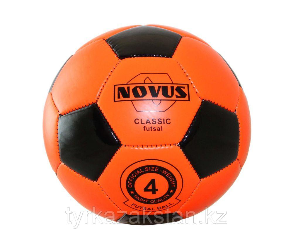 Мяч футбольный Novus CLASSIC FUTSAL, PVC foam, оранж/чёрн, р.4, м/ш