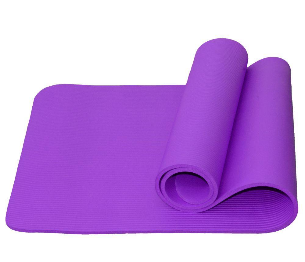 Коврик для йоги и фитнеса Atemi, AYM05PL, NBR, 183x61x1,0 см, фиолетовый
