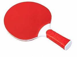 Ракетка для настольного тенниса Atemi (пластик), красн/бел, ATR-10