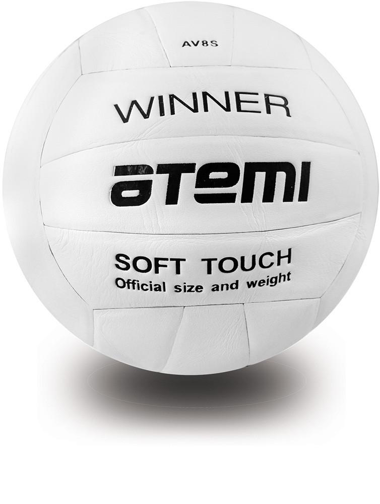 Мяч волейбольный Atemi WINNER, синтетическая кожа PU soft, бел.