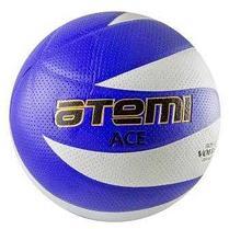 Мяч волейбольный Atemi ACE, синтетическая кожа PVC, бел/син, 12 панелей