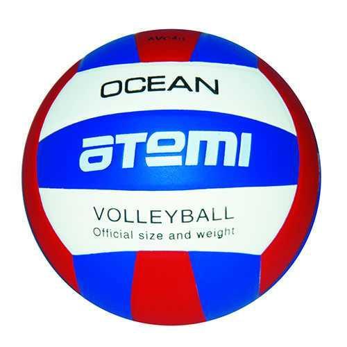 Мяч волейбольный Atemi OCEAN, синтетическая кожа PU, син-красн-бел