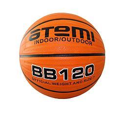 Мяч баскетбольный Atemi, р.7, мягкая резина, deep channel, BB120