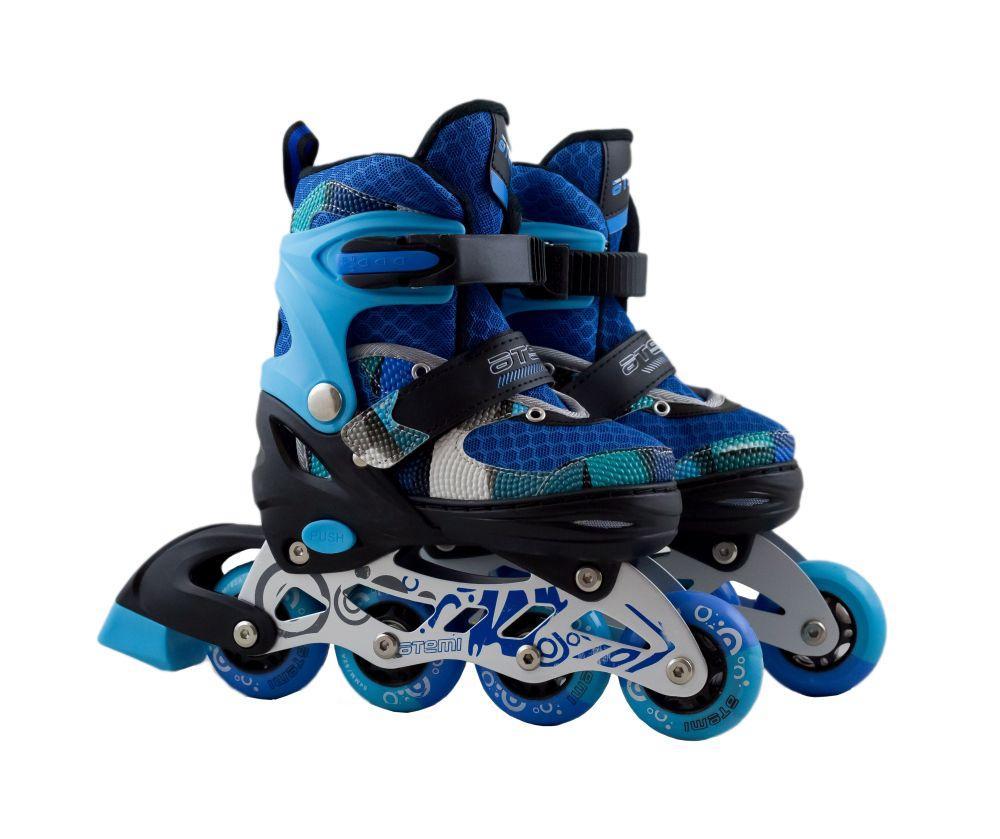 Раздвижные роликовые коньки для детей ATEMI, размер 31-34, AJIS-19.04