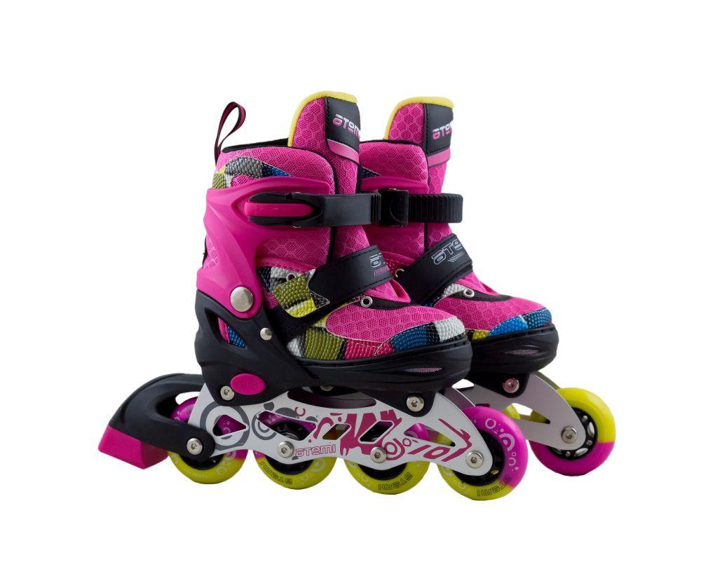 Раздвижные роликовые коньки для детей ATEMI, размер 31-34, AJIS-19.05