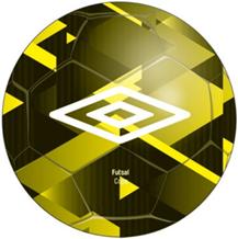 Мяч минифутбольный FUTSAL COPA, 20993U-HDN жел/бел/чер, размер 4