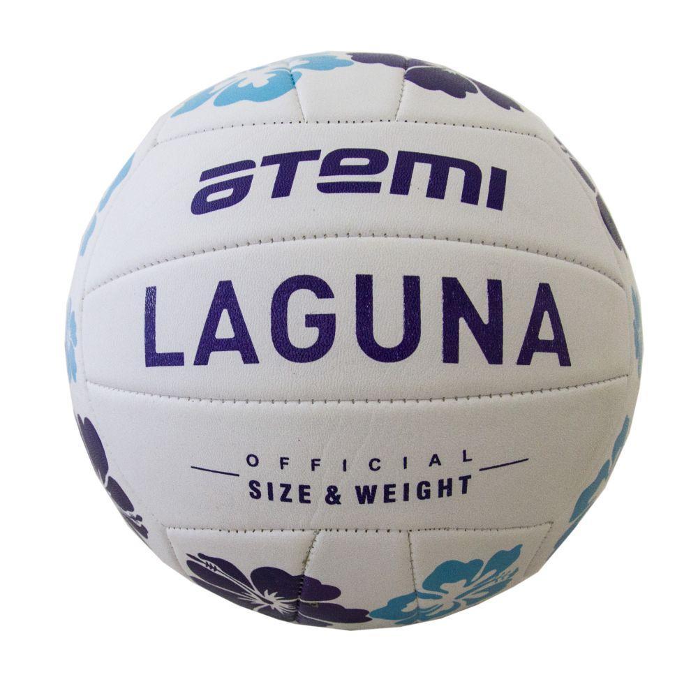 Мяч волейбольный Atemi LAGUNA,синтетическая кожа PVC, 18 п., бел/т.син/гол.