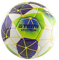Мяч футбольный Atemi SPECTRUM, микрофибра, бел/син/зел, р.5
