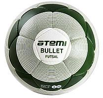 Мяч футбольный Atemi BULLET FUTSAL, PU, бел/зел, р.4