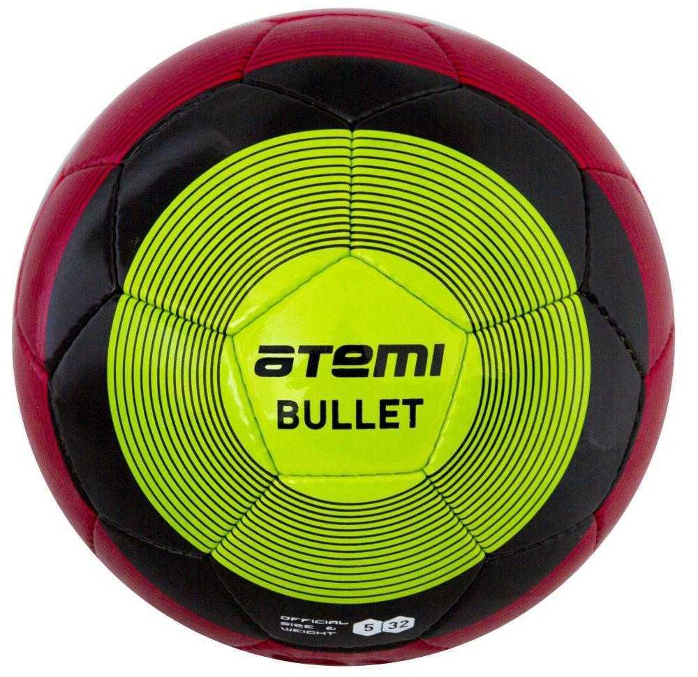 Мяч футбольный Atemi BULLET WINTER, PU, красн/чёрн/зел, р.5