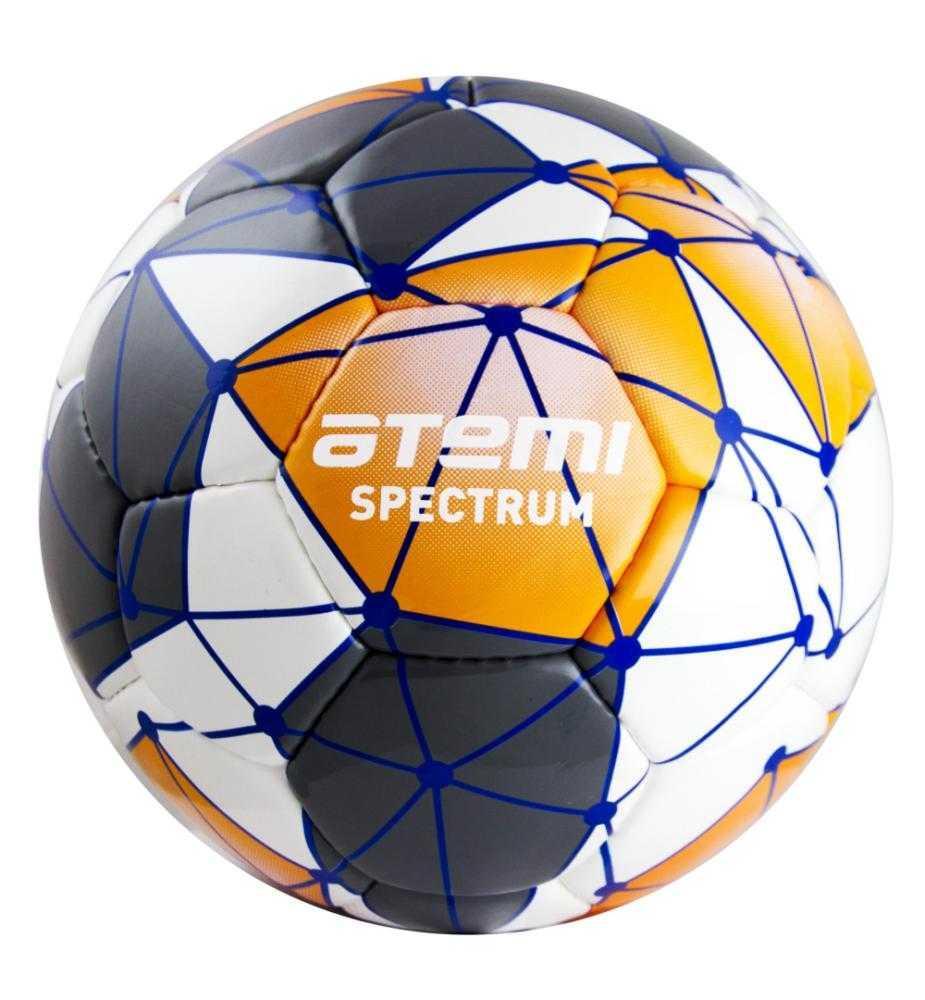 Мяч футбольный Atemi SPECTRUM, PVC, бел/сер/оранж, р.5 (0.5-0.7 bar)