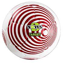 Мяч футбольный Novus TARGET, PVC, бел/красн, р.5