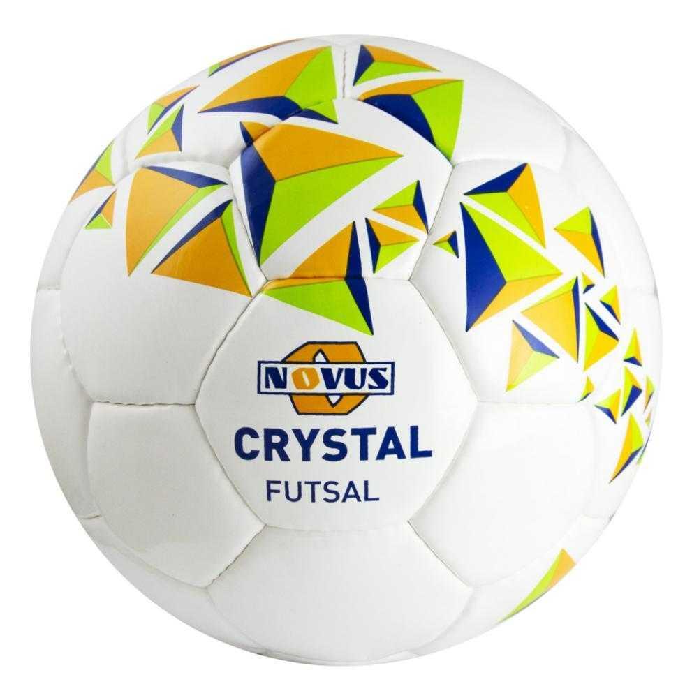 Мяч футбольный Novus CRYSTAL FUTSAL, PVC, бел/син/оранж, р.4