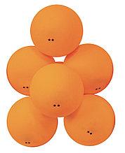 Мячи для настольного тенниса Атеми 2*, пластик, 40+, оранж., 6 шт., ATB201