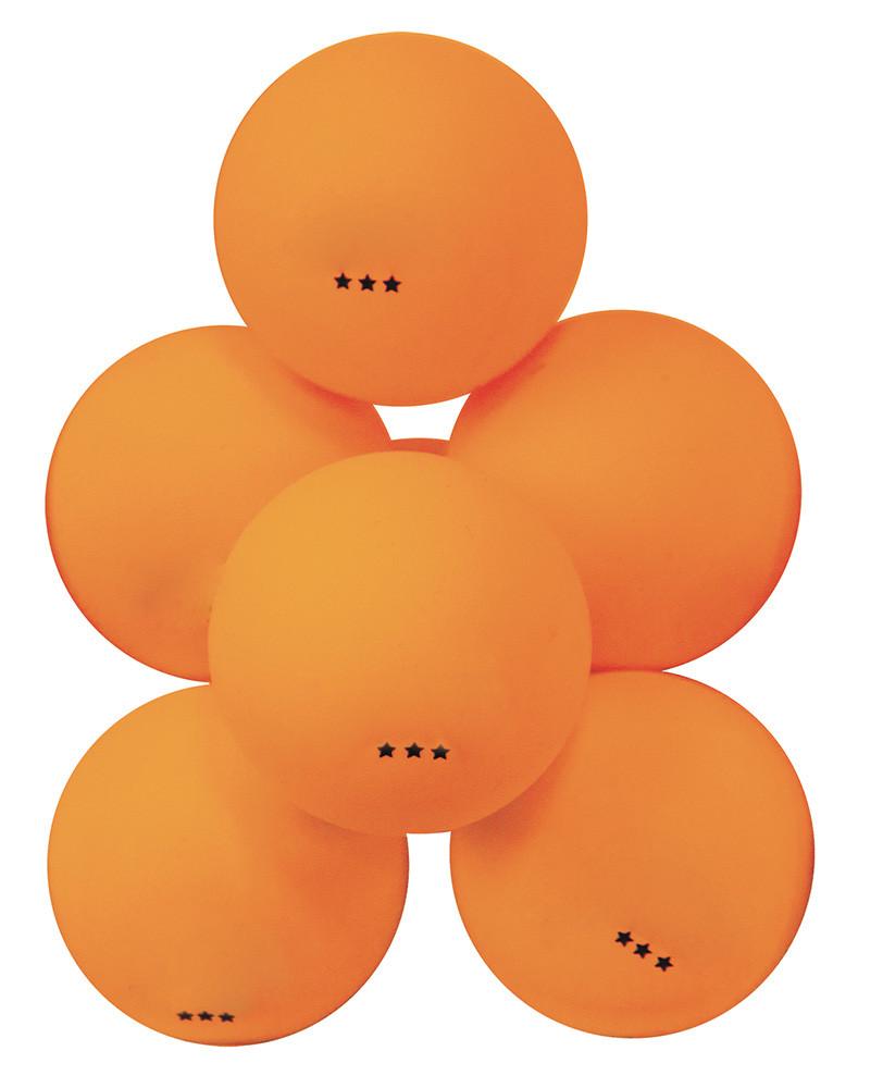 Мячи для настольного тенниса Атеми 3*, пластик, 40+, оранж., 6 шт., ATB301