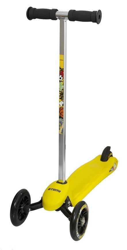 Самокат детский желтый трехколесный, ASTR16-2