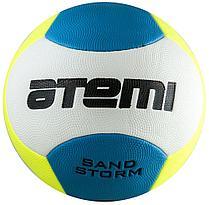 Мяч футбольный Atemi SAND STORM пляжный PVC foam, жёлт/гол/бел., 6пан., р.5, м/ш (0,4-0,6 bar)