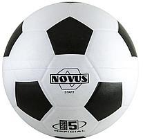 Мяч футбольный Novus START, резина, бел/чёрн, р.5