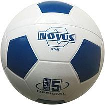 Мяч футбольный Novus START, резина, бел/син, р.5