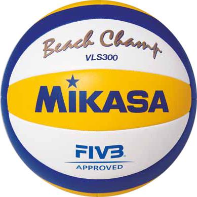Мяч волейбольный MIKASA Beach Champ, офиц.мяч FIVB синтетическая кожа, маш./ш, VLS300