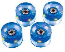 Набор колес для миниборда цвет синий с подсветкой (подшипник ABEC-5), AW-18.03